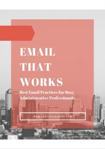 email that works best practices for assistants