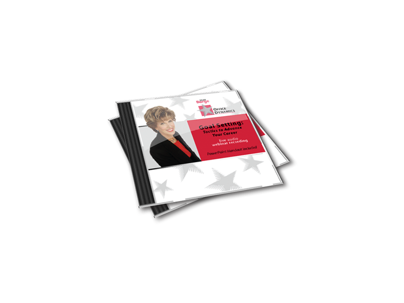 Goal_Setting_Tactics_To_Advance_Your_Career_CD_For_Administrative_assistants