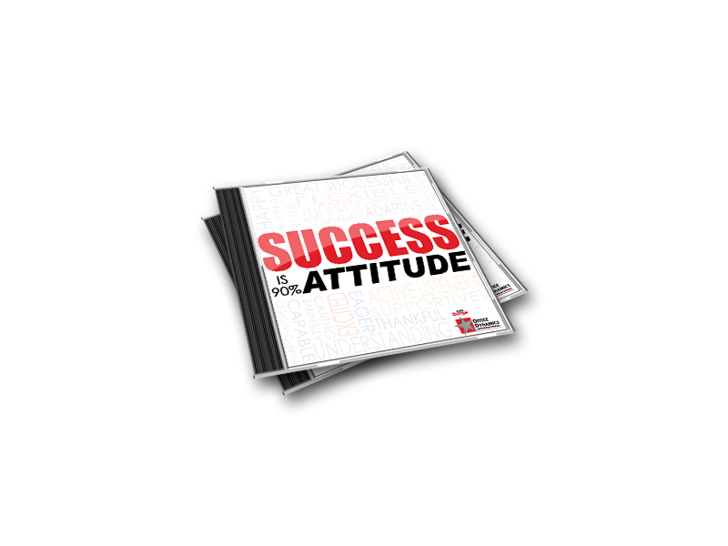 Success_Is_90_Attitude_Cd_For_Administrative_Assistants