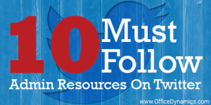 10 Must Follow Admin Resources On Twitter