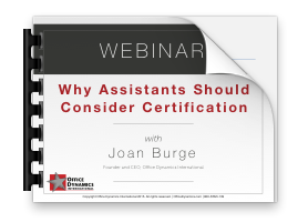 Why Assistants Should Consider Certification Handout Image