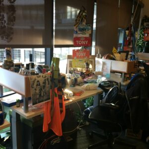 Tony Hsieh's desk