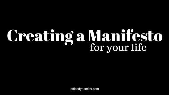 creating a manifesto