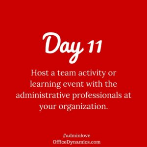 host a team event with your administrative team