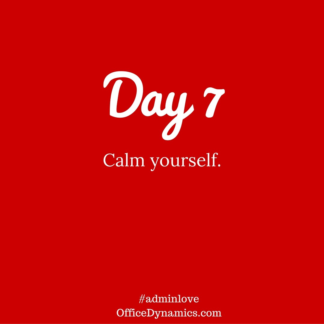 Use techniques to calm down when you are feeling overwhelmed