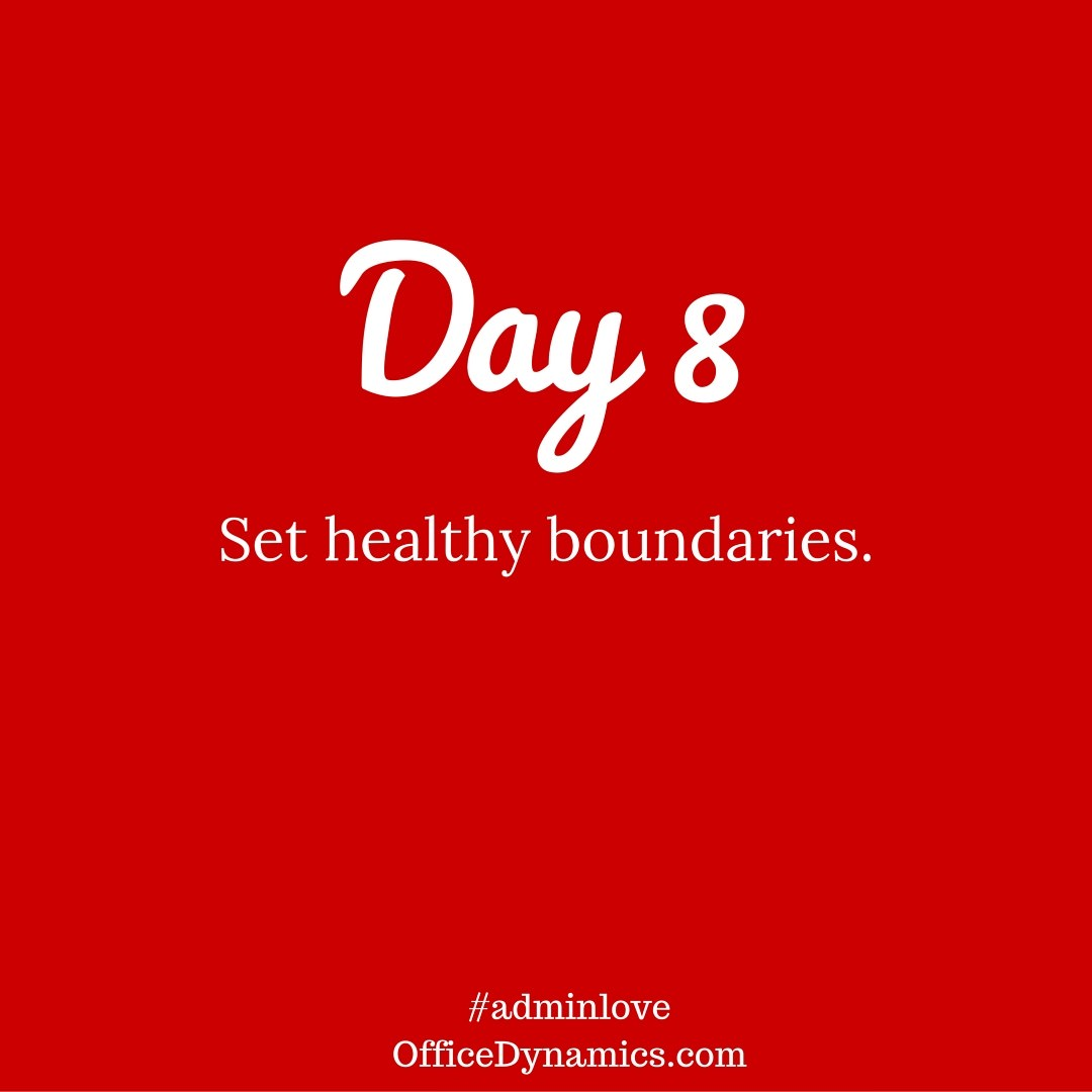 set healthy boundaries