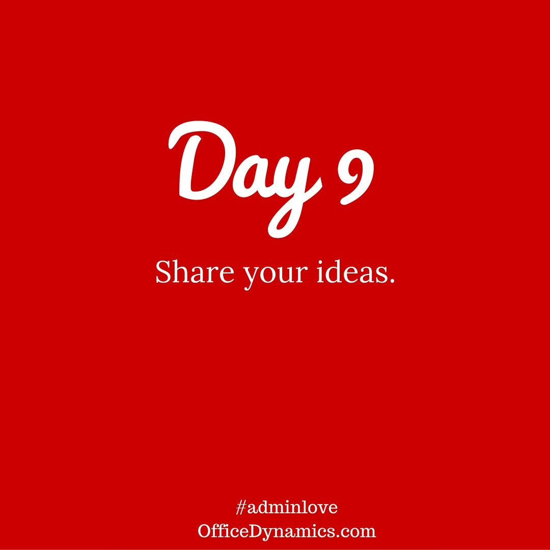 Share your ideas - speak up and be heard