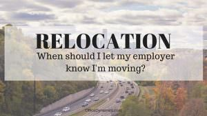 best time to give resignation when moving
