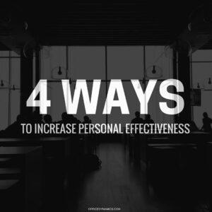 increase personal effectiveness