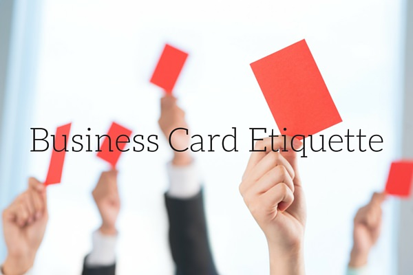 business card etiquette Japanese business etiquette doesn' the quality and condition of your business card speaks much about how you intend to conduct yourself and business if there was ever a time to splurge on a nice carrying case for cards, it's before the meeting.