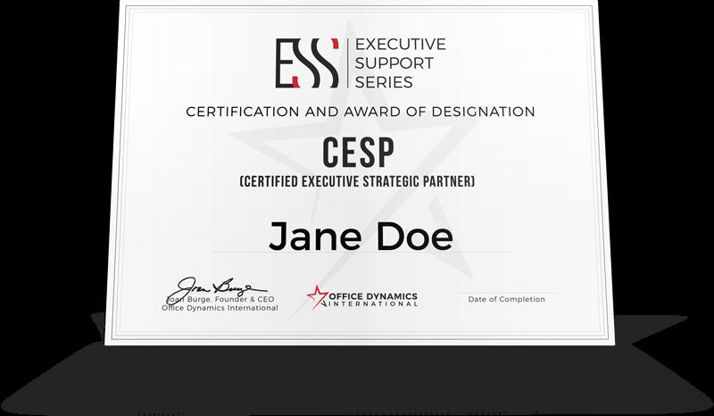Executive Assistant Certification Designation
